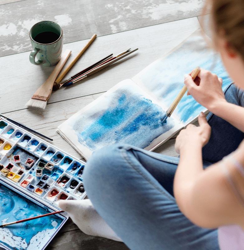 Watercolour practice at home GardeniaFair