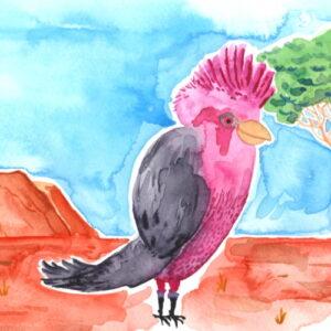 Yves Kervoelen Watercolour Bird